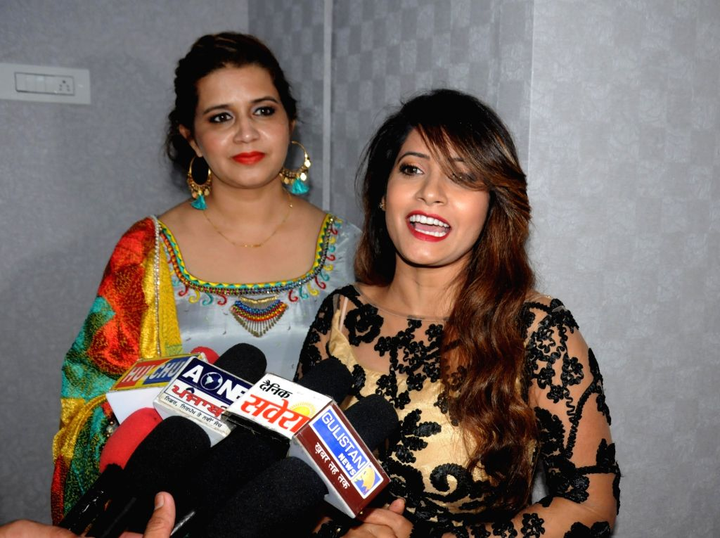 Actress Pooja during a promotional programme in Amritsar on Oct 2, 2016. - Pooja