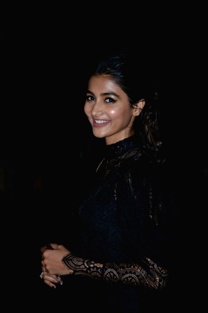Actress Pooja Hegde at a party hosted by director Punit Malhotra on Valentine's Day in Mumbai, on Feb 14, 2019. - Pooja Hegde and Punit Malhotra