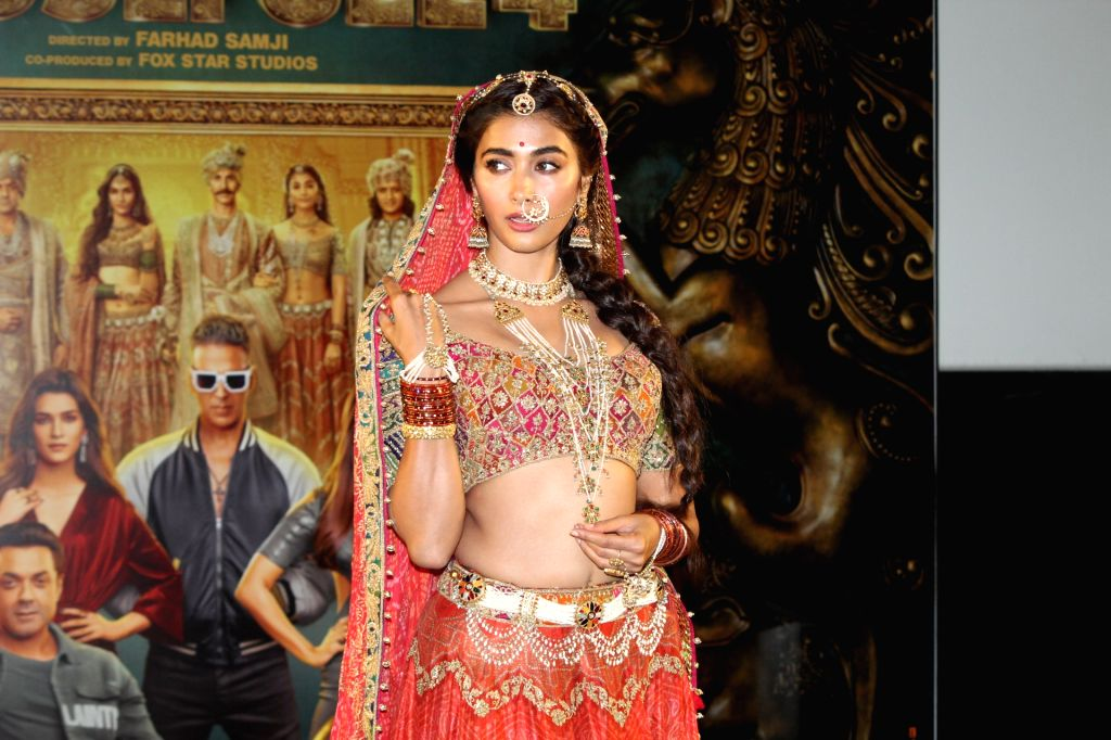"""Actress Pooja Hegde at the trailer launch of their upcoming film """"Housefull 4"""" in Mumbai on Sep 27, 2019. - Pooja Hegde"""