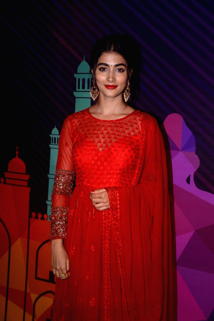Actress Pooja Hegde  during a programme organised to unveil the winners of fbb Colors Femina Miss India 2018 in Mumbai on June 10, 2018. - Pooja Hegde