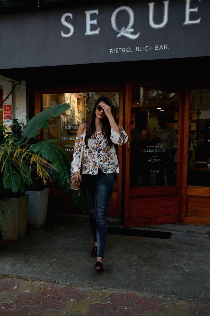 Actress Pooja Hegde seen at Bandra, Mumbai on Feb 14, 2019. - Pooja Hegde