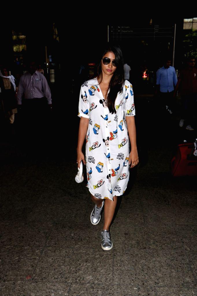 Actress Pooja Hegde seen at Chhatrapati Shivaji Maharaj International airport in Mumbai. - Pooja Hegde