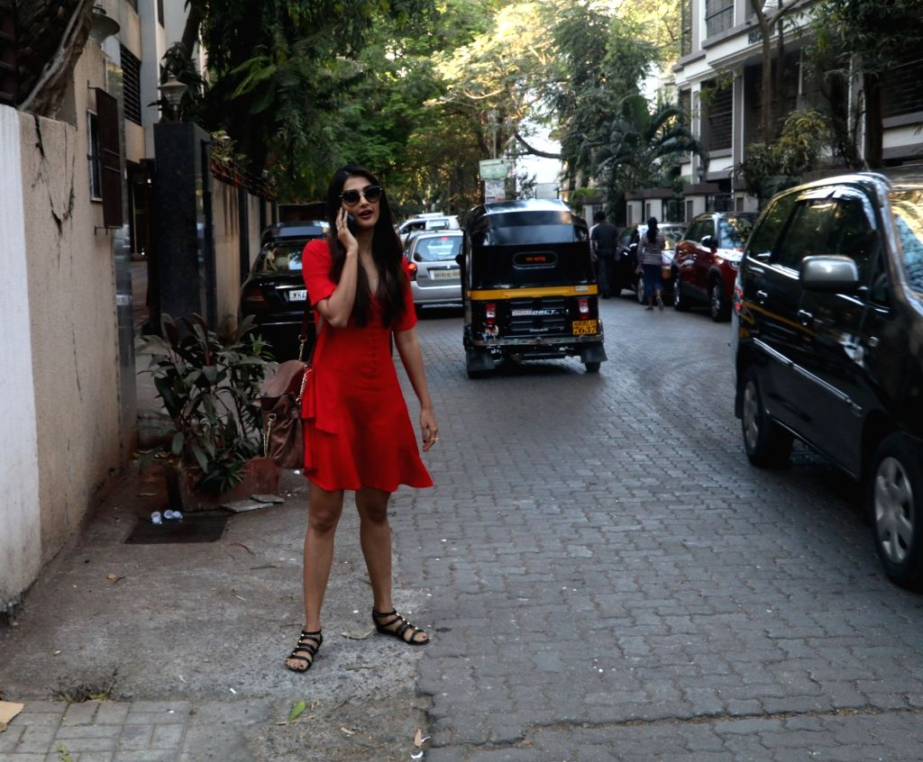 Actress Pooja Hegde seen at khar in Mumbai on Feb 12, 2018. - Pooja Hegde