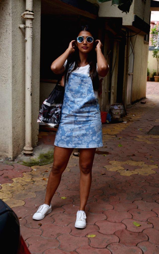 Actress Pooja Hegde seen at Mumbai's Bandra on Aug 10, 2018. - Pooja Hegde