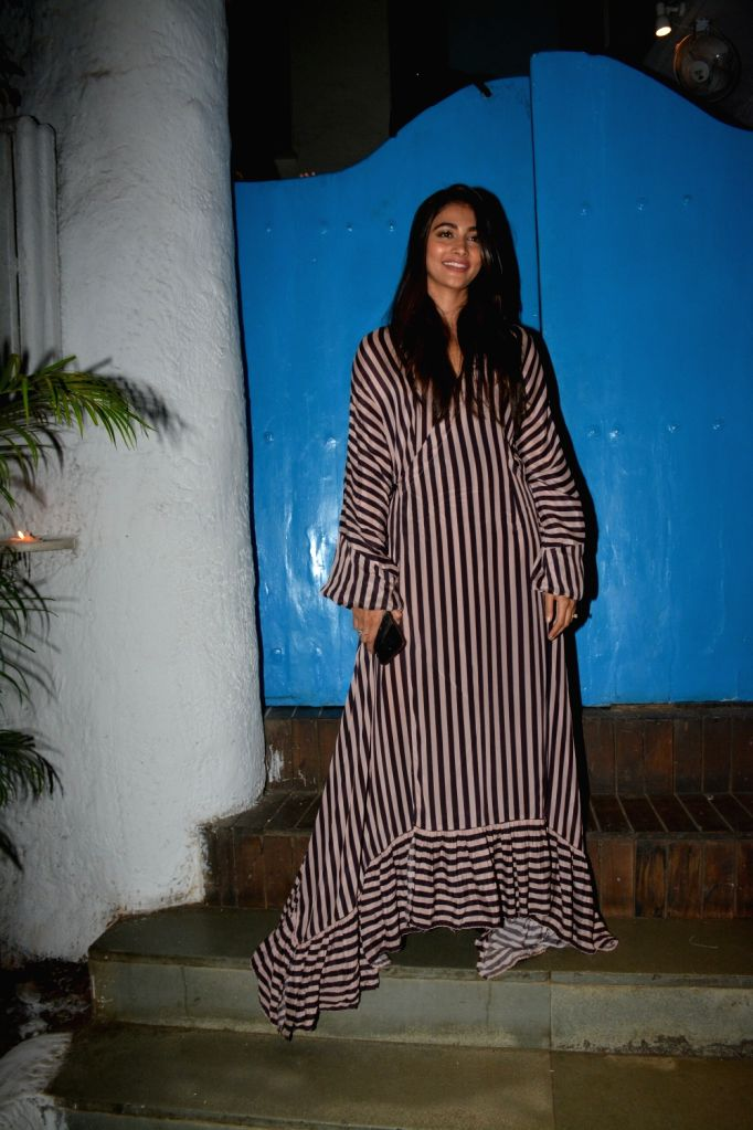 Actress Pooja Hegde seen in Mumbai's Bandra, on March 3, 2019. - Pooja Hegde