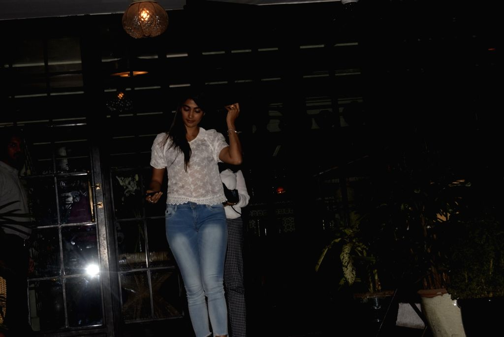 Actress Pooja Hegde seen outside a club in Mumbai's Bandra, on March 7, 2019. - Pooja Hegde