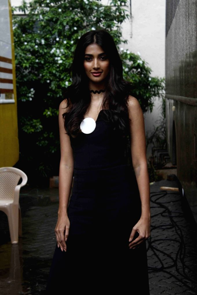 Actress Pooja Hegde spotted at Mehboob Studio, in Mumbai, on July 29, 2016. - Pooja Hegde