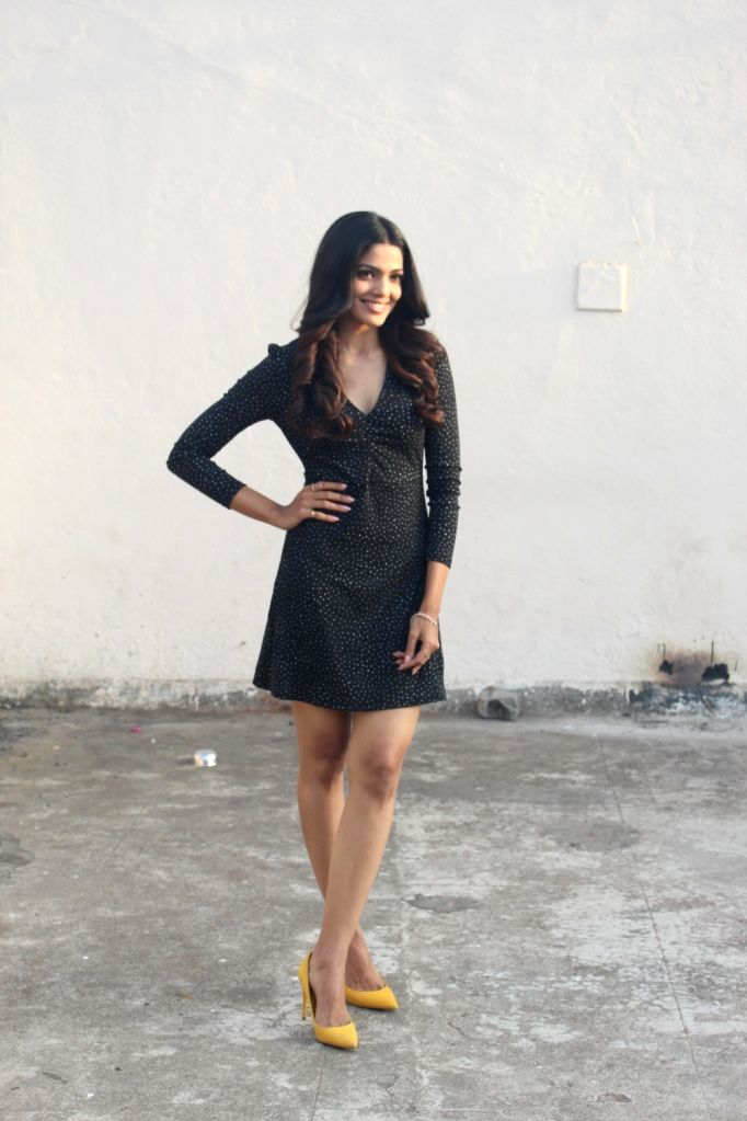 """Actress Pooja Sawant during the promotion of her upcoming film """"Junglee"""" at a studio, in Mumbai, on March 13, 2019. - Pooja Sawant"""