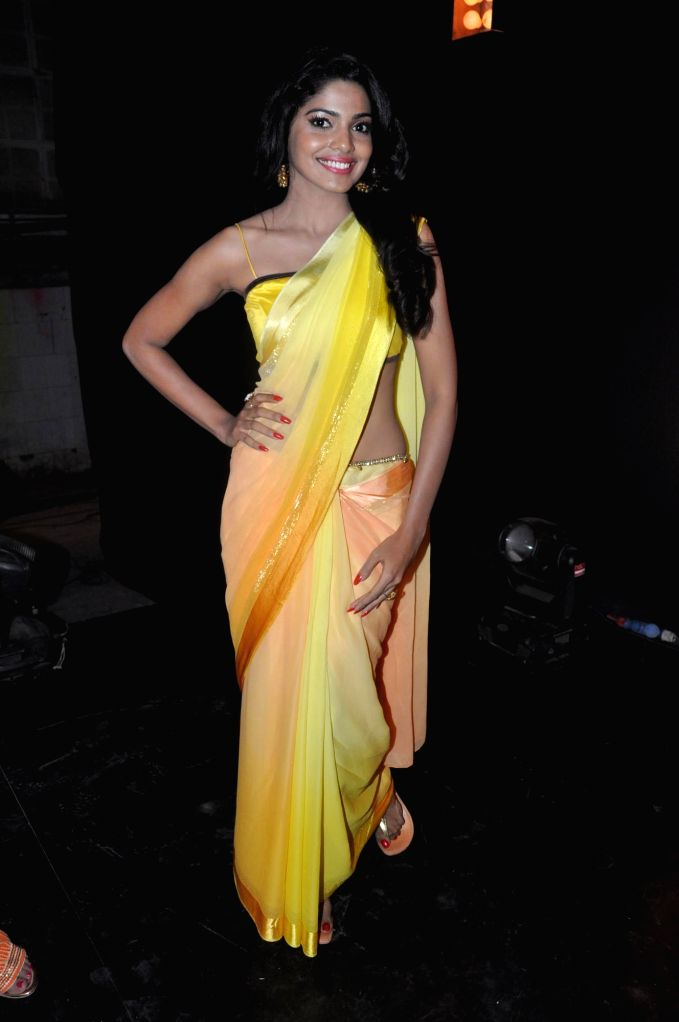 Actress Pooja Sawant during the promotional song shoot of upcoming Marathi film Poshter Boyz  in Mumbai on May 6, 2014. - Pooja Sawant