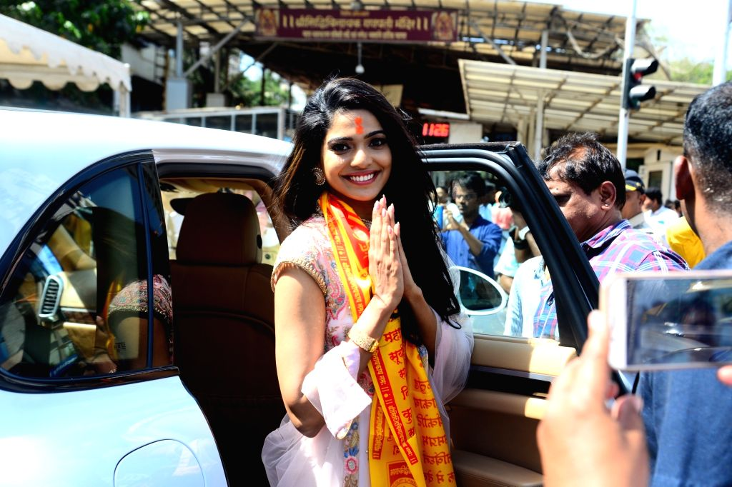 "Actress Pooja Sawant visits Siddhivinayak Temple ahead of the trailer launch of her upcoming film ""Junglee"" in Mumbai, on March 4, 2019. - Pooja Sawant"