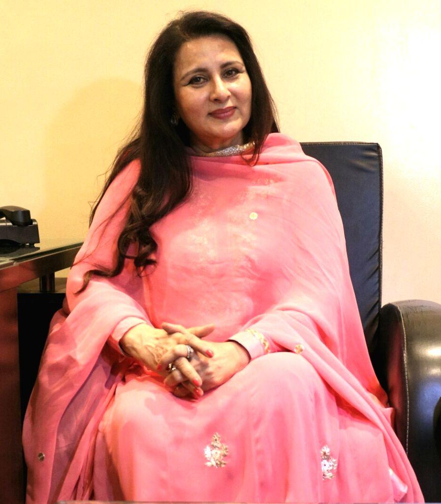 Actress Poonam Dhillon at BJP headquarters in New Delhi on May 16, 2017. - Poonam Dhillon