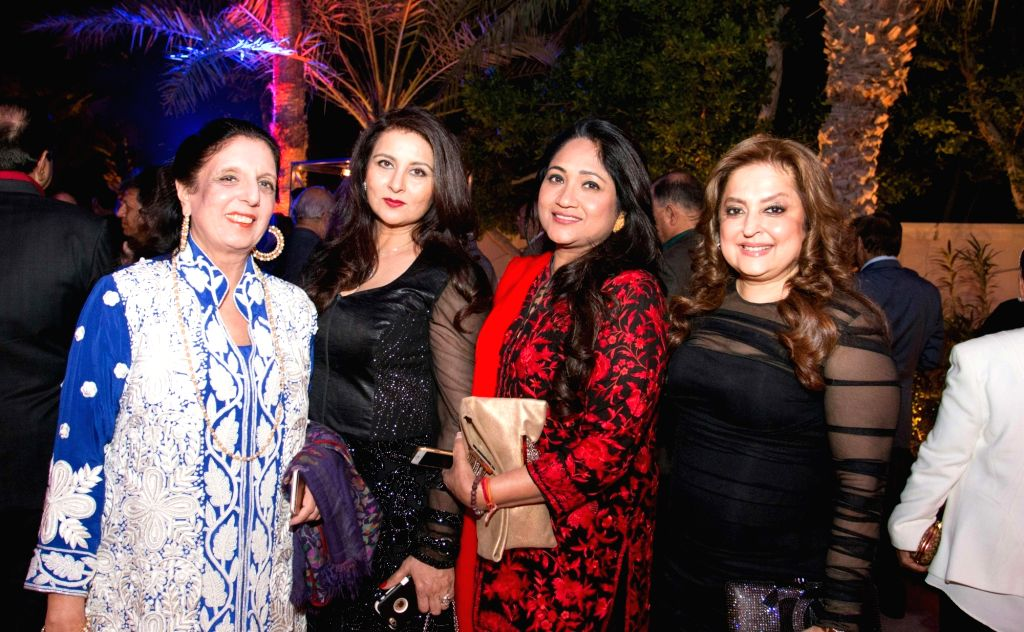 Actress Poonam Dhillon at the Anil Kapoor`s 59th birthday celebration party hosted by Chairman Channel 2 Group Ajay Sethi in Dubai, on Jan 5 ,2016. - Poonam Dhillon