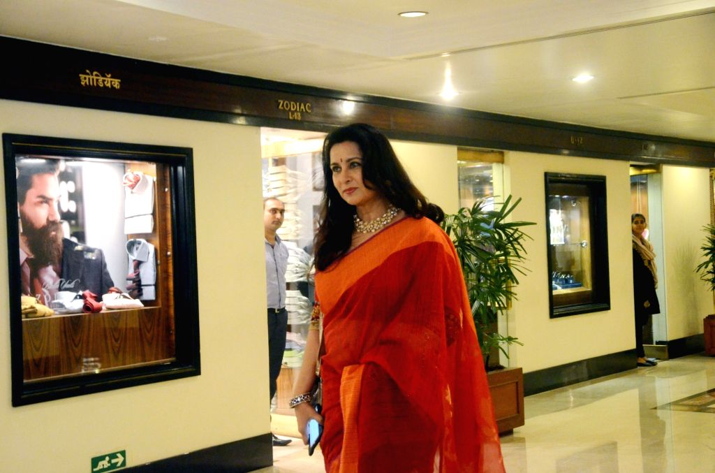 Actress Poonam Dhillon during 32nd Anniversary Global Awards Ceremony in Mumbai, on Sept 19, 2016. - Poonam Dhillon