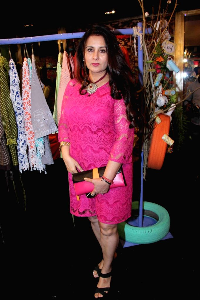Actress Poonam Dhillon during preview of fashion designer Maheka Mirpuri`s summer collection, in Mumbai, on April 21, 2016. - Poonam Dhillon