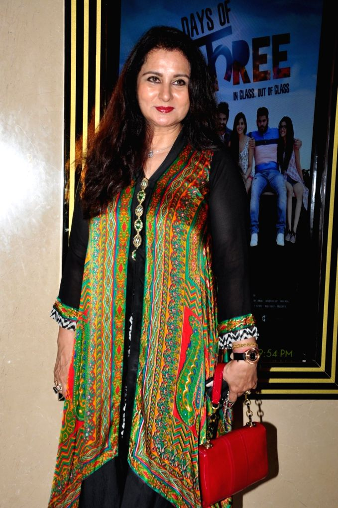 Actress Poonam Dhillon during the premiere of film Days of Tafree, in Mumbai, on Sept 21, 2016. - Poonam Dhillon