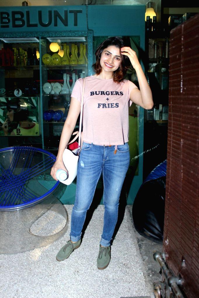 Actress Prachi Desai Spotted at BBLUNT Saloon Bandra in Mumbai, on June 15, 2017. - Prachi Desai Spotted