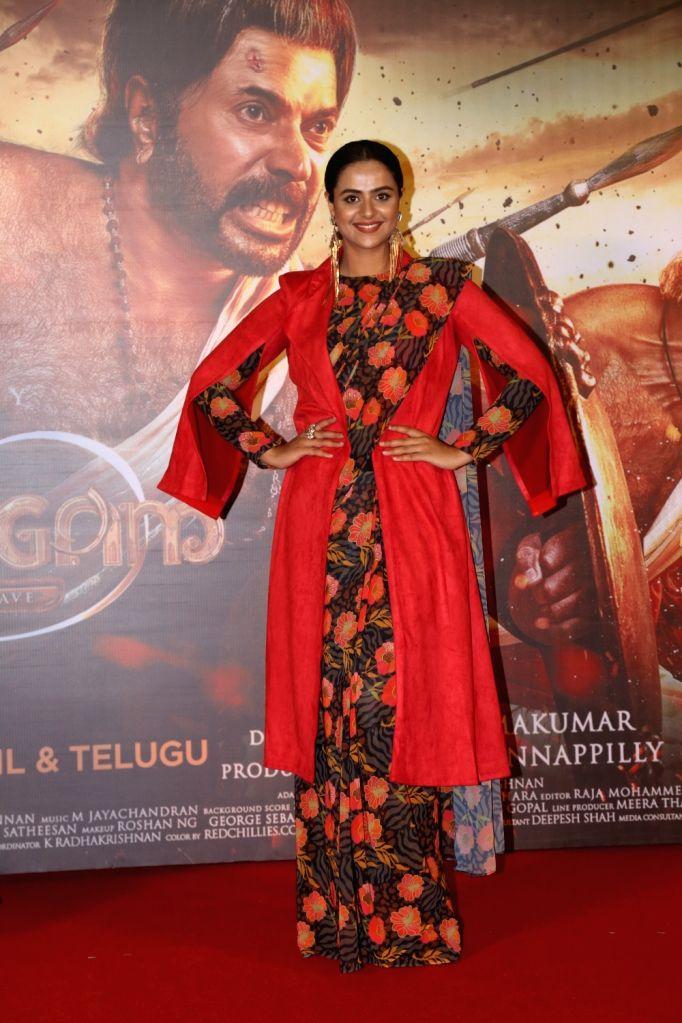 """Actress Prachi Tehlan at the trailer launch of film """"Mamangam"""" in Mumbai  on Dec 4, 2019. - Prachi Tehlan"""
