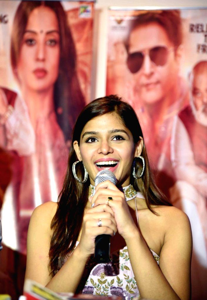 "Actress Pranita Ray addresses during the promotions of her upcoming film ""Family of Thakurganj"" in Patna on July 17, 2019. - Pranita Ray"