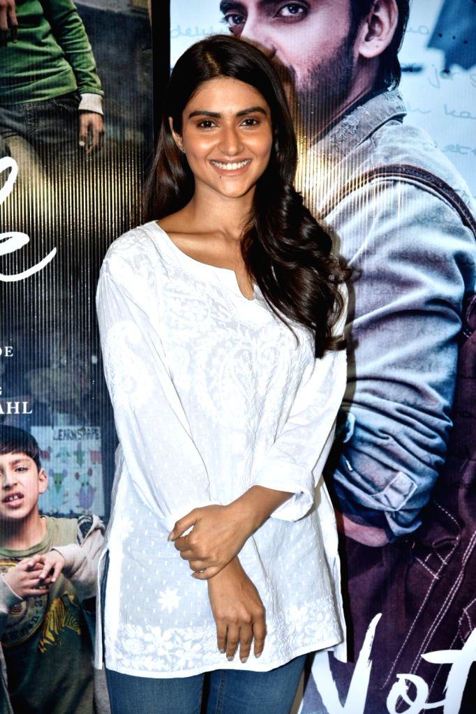 """Actress Pranutan Bahl at trailer preview of her upcoming film the """"Notebook"""" in Mumbai, on Feb 21, 2019. - Pranutan Bahl"""