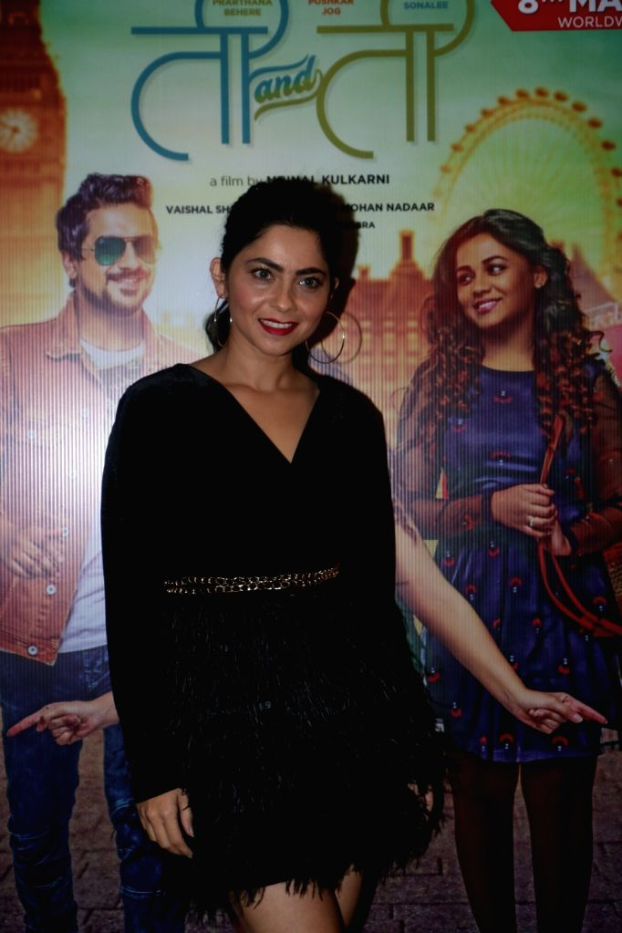 "Actress Prarthana Behere at the screening of her upcoming Marathi film ""Ti And Ti"" in Mumbai, on March 7, 2019. - Prarthana Behere"