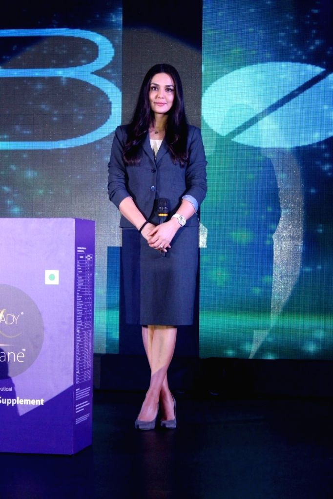 Actress Preity Zinta during  the launch of Nutraceutical product 'Freelady' for menopausal women in Mumbai on March 24, 2017 - Preity Zinta