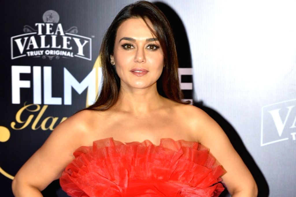 Actress Preity Zinta on the red carpet of Filmfare Glamour And Style Awards 2019, in Mumbai on Feb 11, 2019. - Preity Zinta