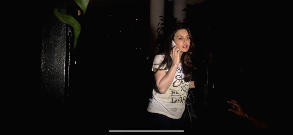 Actress Preity Zinta seen at a Mumbai Club on Feb 6, 2019. - Preity Zinta