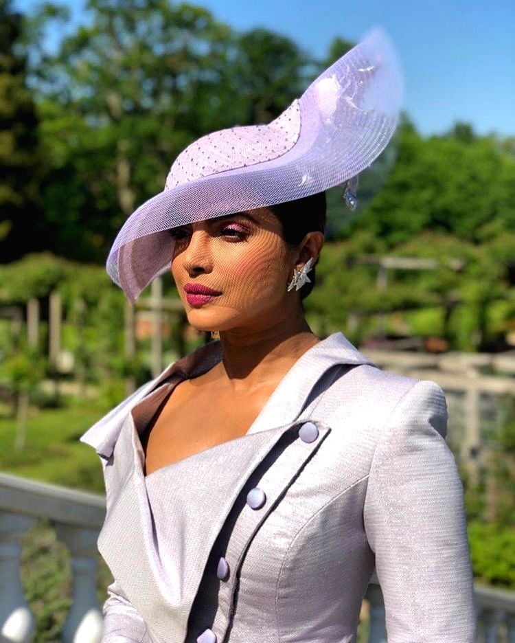 Actress Priyanka Chopra arrives to attend her friend and actress Meghan Markle's wedding at the St. George's Chapel. (Photo: Twitter/@TeamPriyanka) - Priyanka Chopra
