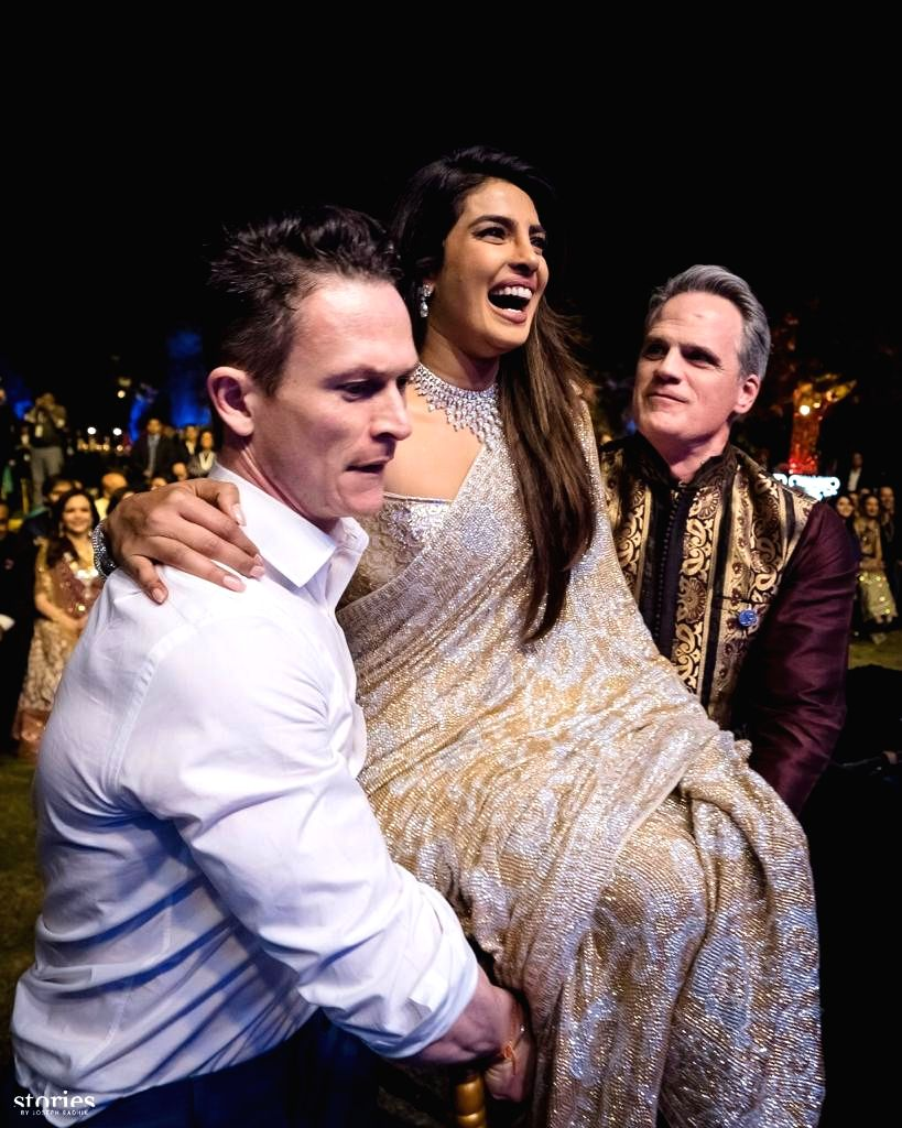 Actress Priyanka Chopra at her wedding with American singer Nick Jonas in Jodhpur on Dec 2, 2018. Priyanka and Nick exchanged wedding vows in a Christian wedding on Saturday. - Priyanka Chopra