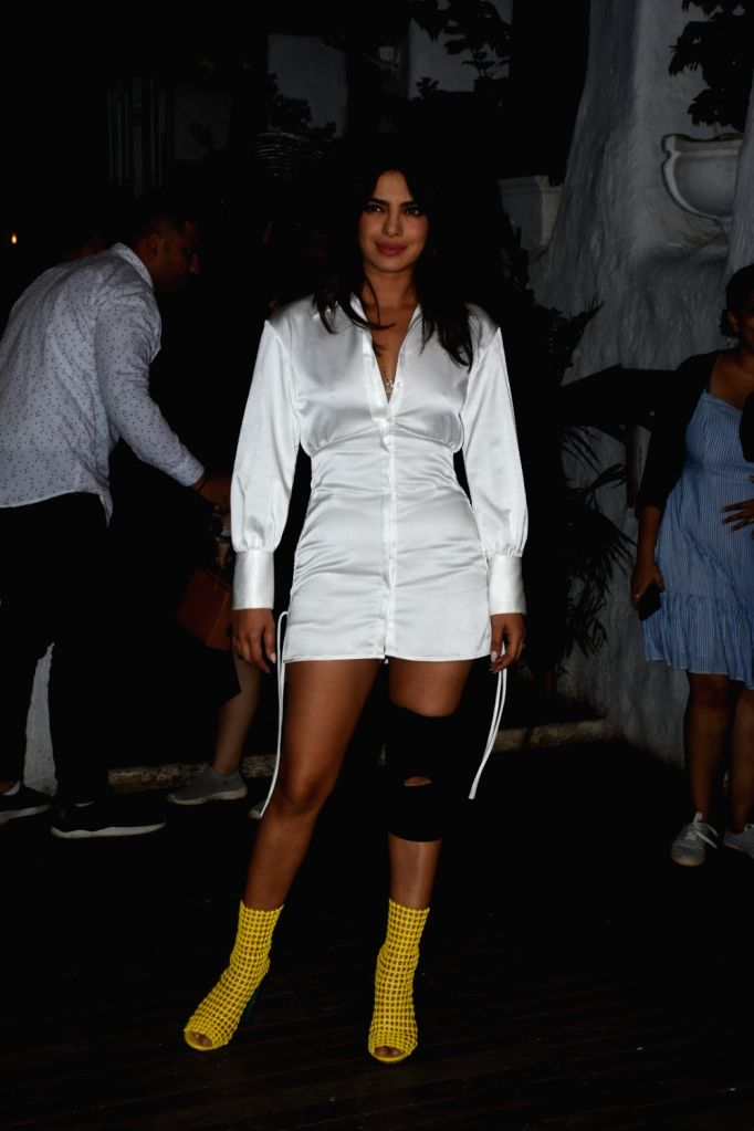 "Actress Priyanka Chopra at the wrap-up party of her upcoming film ""The Sky Is Pink"", in Mumbai on June 11, 2019. - Priyanka Chopra"