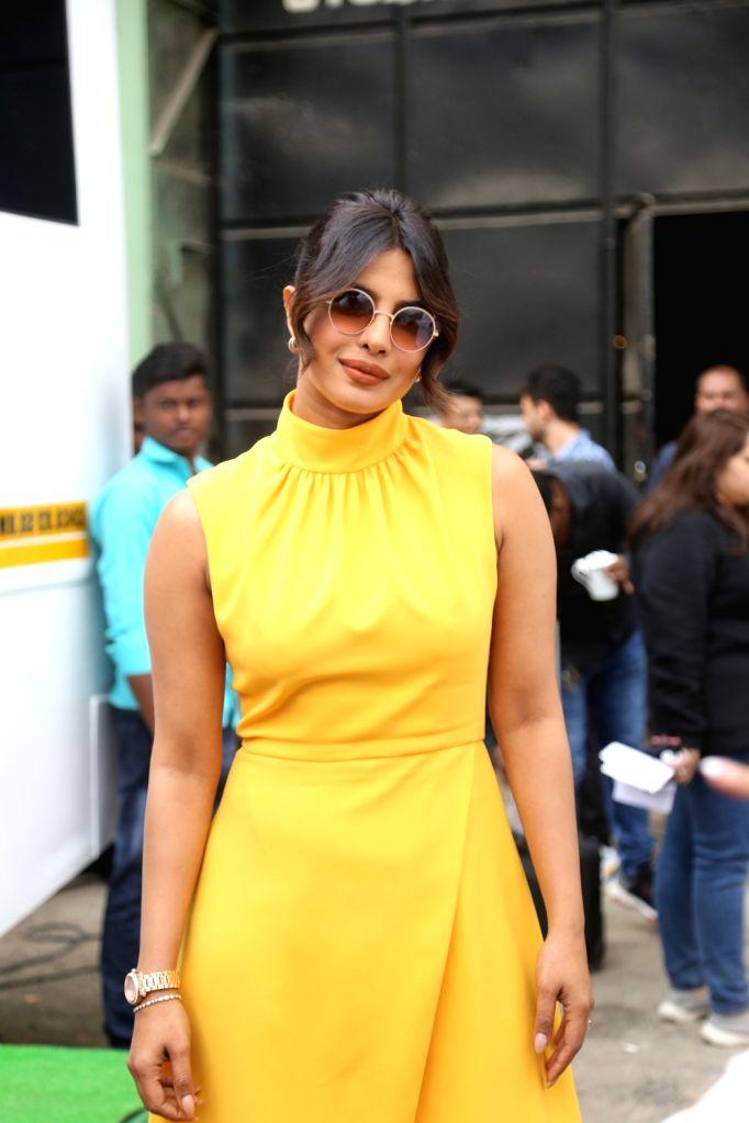"Actress Priyanka Chopra during the promotions of his upcoming film ""The Sky Is Pink"" in Mumbai on Sep 24, 2019. - Priyanka Chopra"