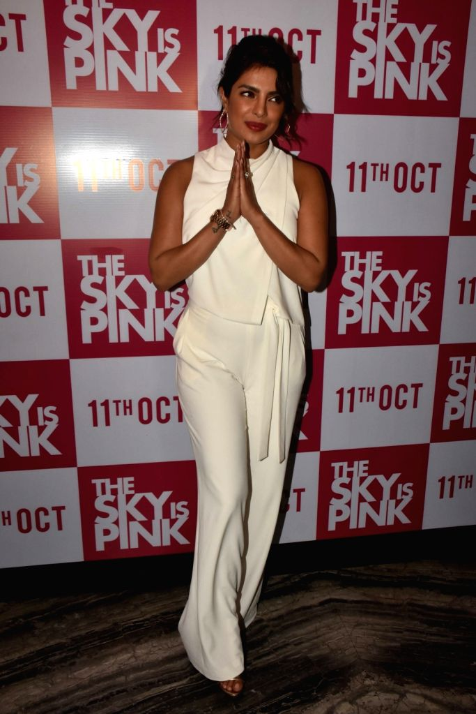 "Actress Priyanka Chopra during the promotions of their upcoming film ""The Sky Is Pink"" in Mumbai on Sep 26, 2019. - Priyanka Chopra"
