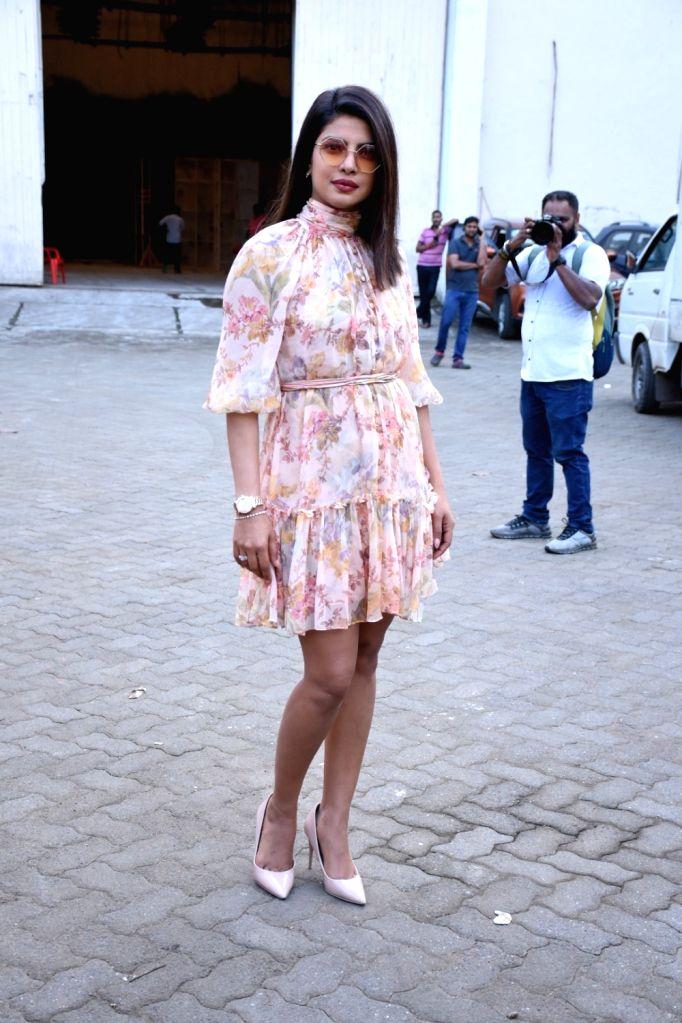 """Actress Priyanka Chopra during the promotions of her upcoming film """"The Sky Is Pink"""" in Mumbai on Sep 27, 2019. - Priyanka Chopra"""