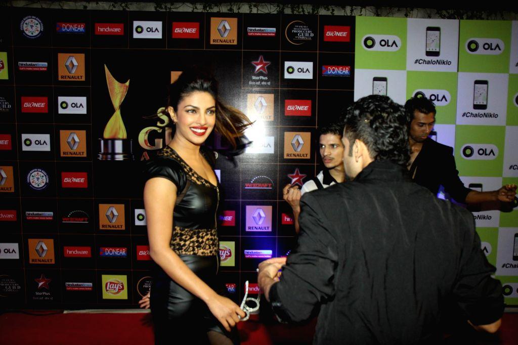 Actress Priyanka Chopra during the Star Guild Awards 2015 in Mumbai on Jan 11, 2015. - Priyanka Chopra