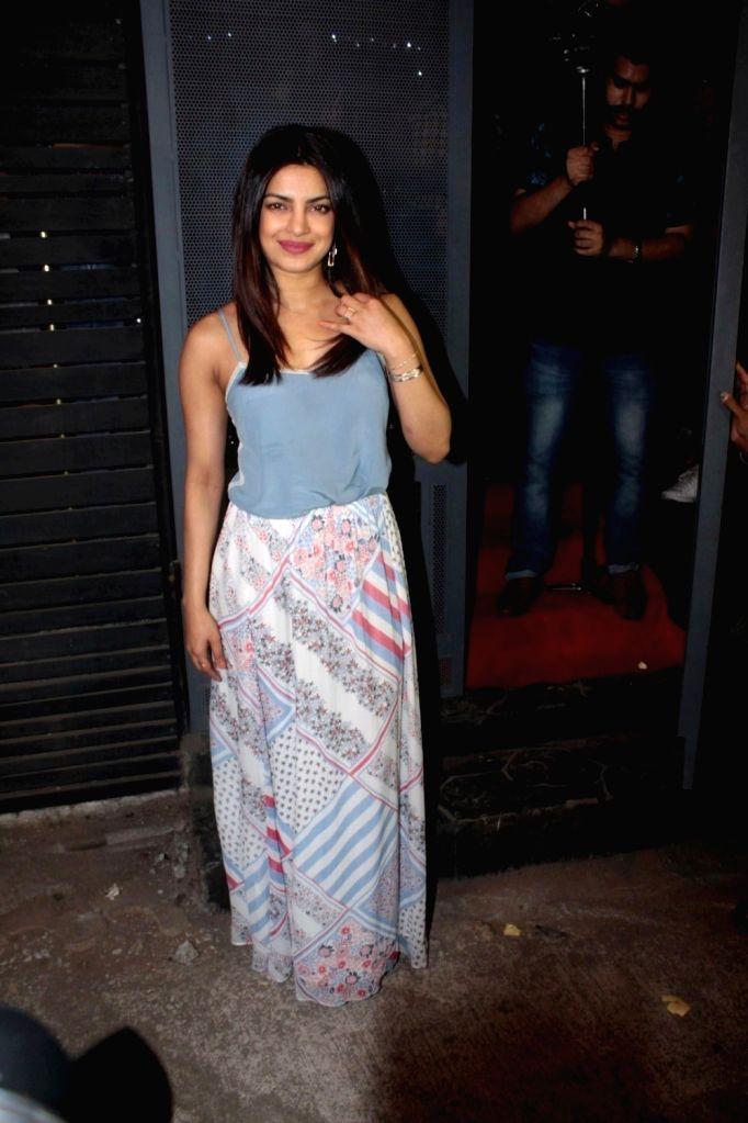Actress Priyanka Chopra during the success party of the film Ventilator in Mumbai on April 25, 2017. - Priyanka Chopra