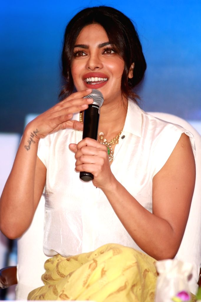 Actress Priyanka Chopra during UNICEF #FairStart campaign, in New Delhi, on July 5, 2016. - Priyanka Chopra