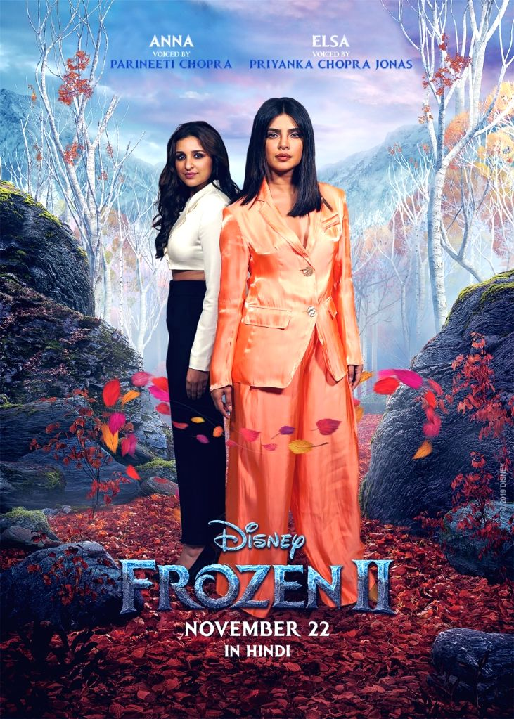 "Actress Priyanka Chopra Jonas along with her sister and actress Parineeti Chopra will be dubbing for the Hindi version of Hollywood animated movie ""Frozen 2"". Disney India has roped in Priyanka to dub for Elsa and Parineeti will voice for Anna in the - Priyanka Chopra Jonas and Parineeti Chopra"