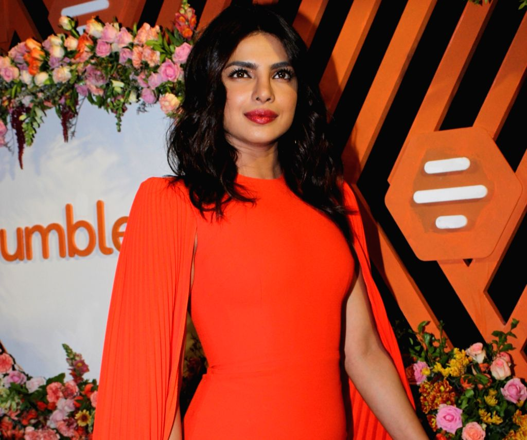 Actress Priyanka Chopra Jonas at the launch of Bumble's #FindThemOnBumble campaign in Mumbai, on June 13, 2019. - Priyanka Chopra Jonas