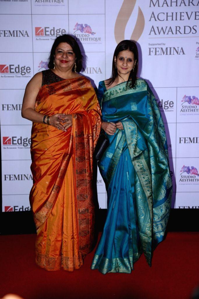 Actress Priyanka Chopra's mother Madhu Chopra at Maharashtra Achievers' Awards 2019 in Mumbai, on March 14, 2019. - Priyanka Chopra and Madhu Chopra