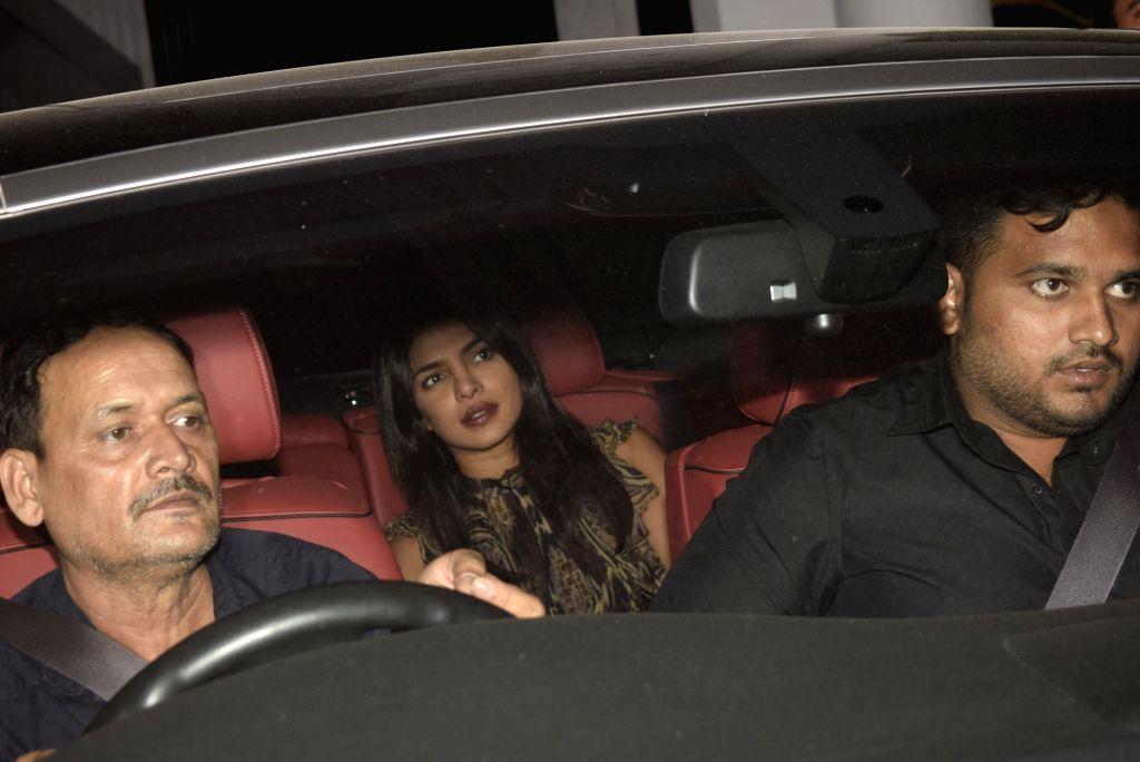 Actress Priyanka Chopra seen at Mumbai' Bandra on March 8, 2019. - Priyanka Chopra