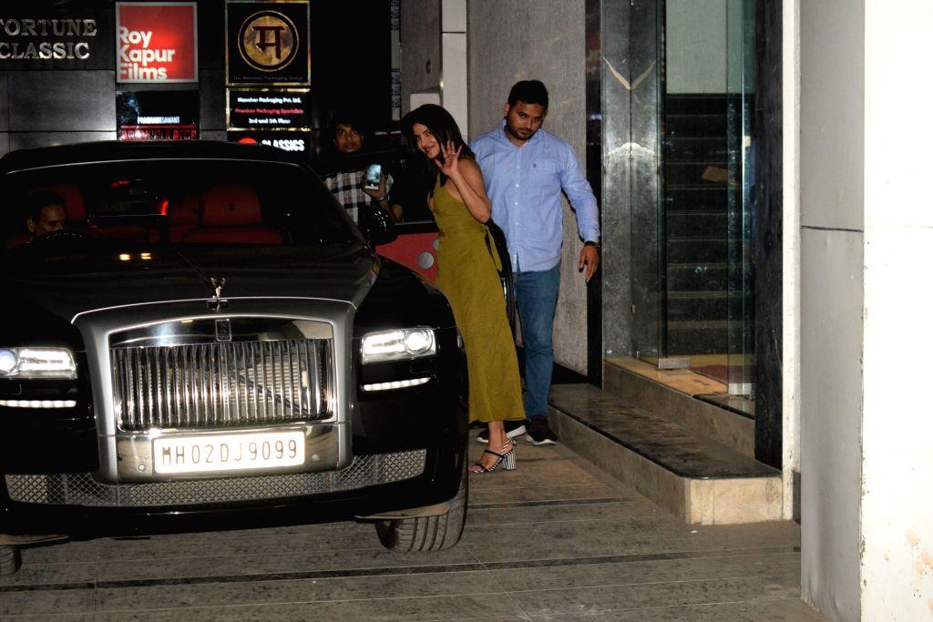 Actress Priyanka Chopra seen outside producer Siddharth Roy Kapur's office, in Mumbai on June 6, 2019. - Priyanka Chopra and Siddharth Roy Kapu