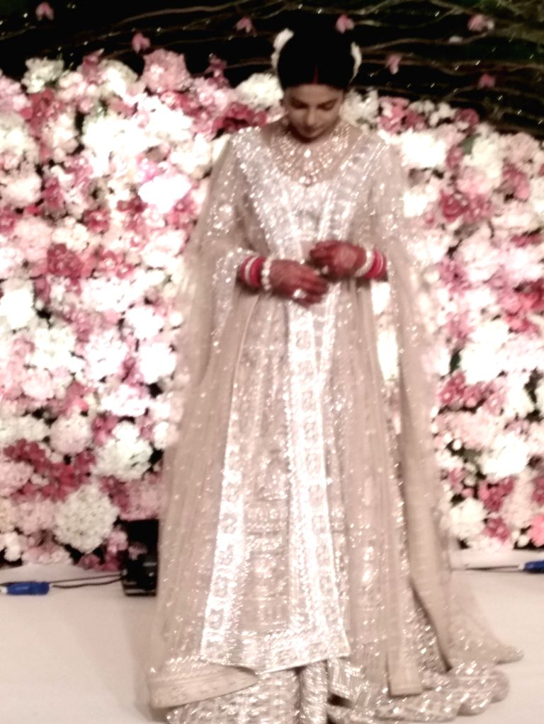 Actress Priyanka Chopra, who married American singer Nick Jonas at their wedding reception in New Delhi on Dec 4, 2018. - Priyanka Chopra