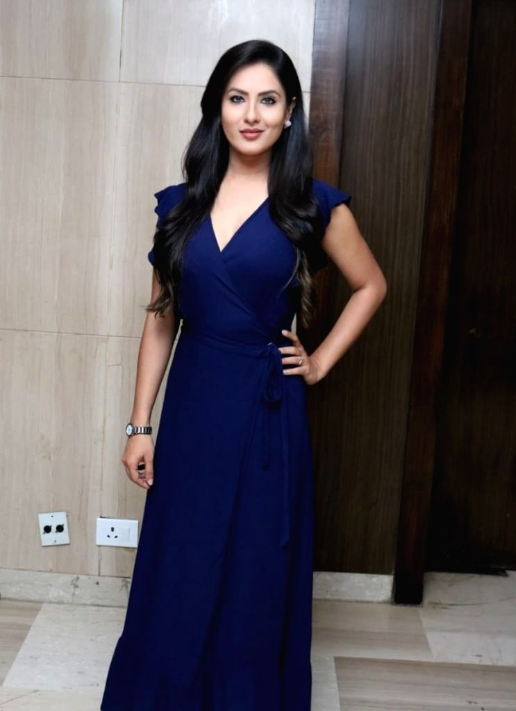 "Actress Puja Banerjee during a press conference regarding ""Dev 2"" in New Delhi, on June 30, 2018. - Puja Banerjee"