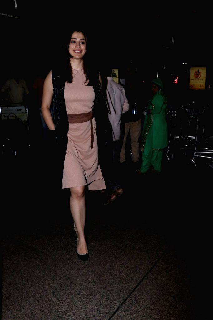 Actress Raai Laxmi seen at Chhatrapati Shivaji Maharaj International airport in Mumbai on Oct 6, 2017. - Raai Laxmi
