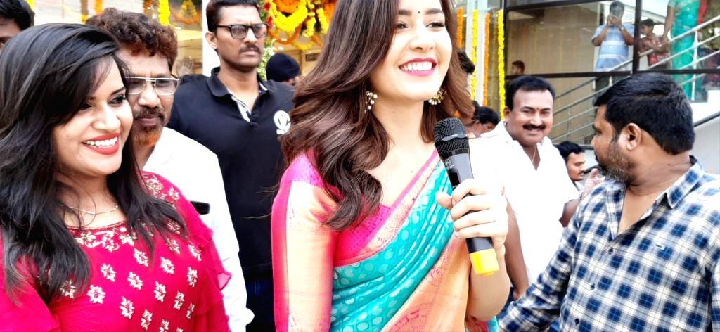 Actress Raashi Khanna seen in Hyderabad, on April 2, 2019. - Raashi Khanna