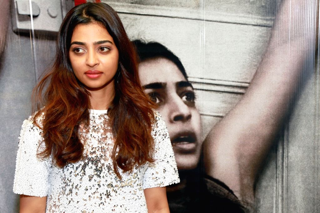 """Actress Radhika Apte during a press conference regarding their upcoming film """"Phobia"""" in New Delhi, on May 24, 2016. - Radhika Apte"""