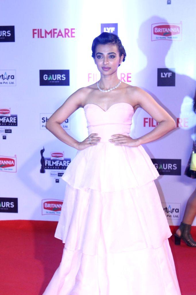 Actress Radhika Apte during the 61st Britannia Filmfare Awards in Mumbai on January 15, 2016. - Radhika Apte
