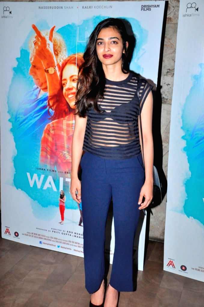 Actress Radhika Apte during the screening of film Waiting, in Mumbai, on May 27, 2016. - Radhika Apte