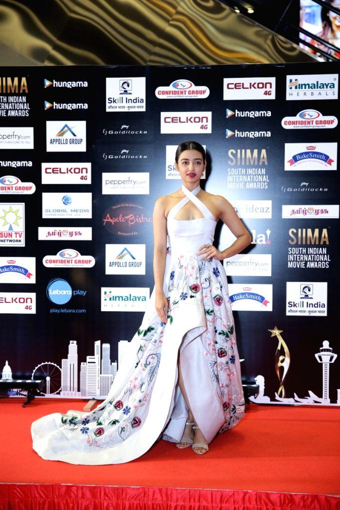 Actress Radhika Apte on the second day of SIIMA Awards 2016. - Radhika Apte