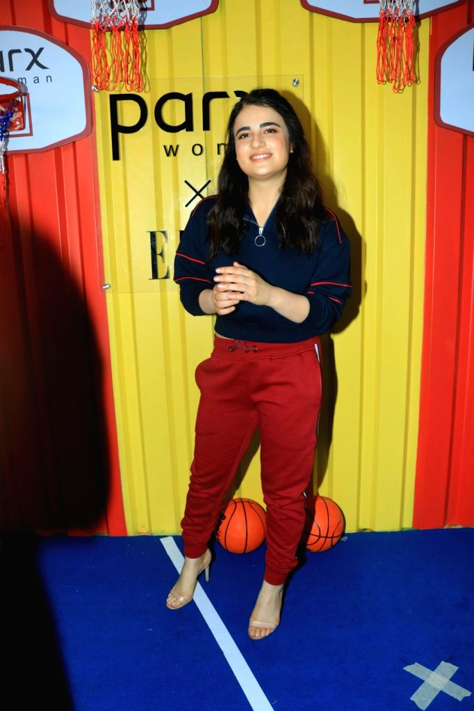 Actress Radhika Madan at the launch of Parx Women X Elle New Collection 'The Winter Games' in Mumbai on Sep 26, 2019. - Radhika Madan